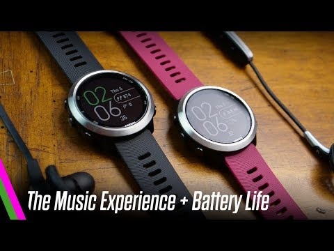 ForeRunner 645 MUSIC Experience: iTunes, iHeartRadio, Headphones, Battery Life REVIEW (fitness soon) Mp3