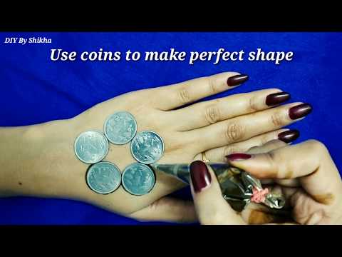 How To Make Perfect Shape With Coins / Coins Henna Mehendi Design For Eid 2018