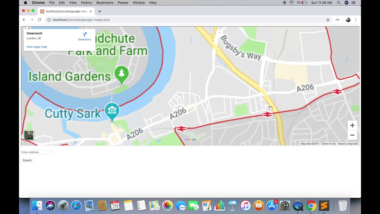 Google Maps In Php Without Api Key By Coordinates By Address