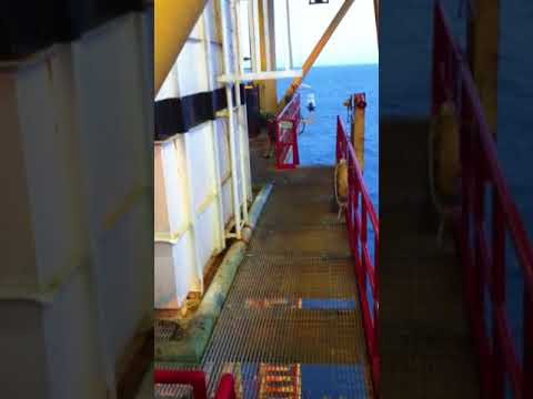 View from un maned offshore platform