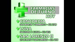 Farmacias de Turno Concordia Entre Rios - Jueves 03-07-2014 2017 Video