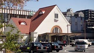 国立駅、三角屋根の木造駅舎を復元