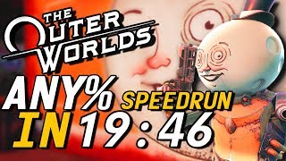 The Outer Worlds Any% Speedrun in 19:46 (23:48 RTA)