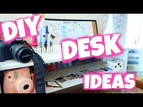 DIY Desk Decor U0026 Organization Ideas: College Desk Tour 2015!   YouTube Nice Ideas