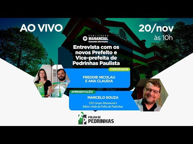 AO VIVO | Novos Prefeito e Vice-prefeita de Pedrinhas Paulista