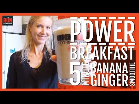 Power Breakfasts For Runners: Five Minute Banana Ginger Smoothie