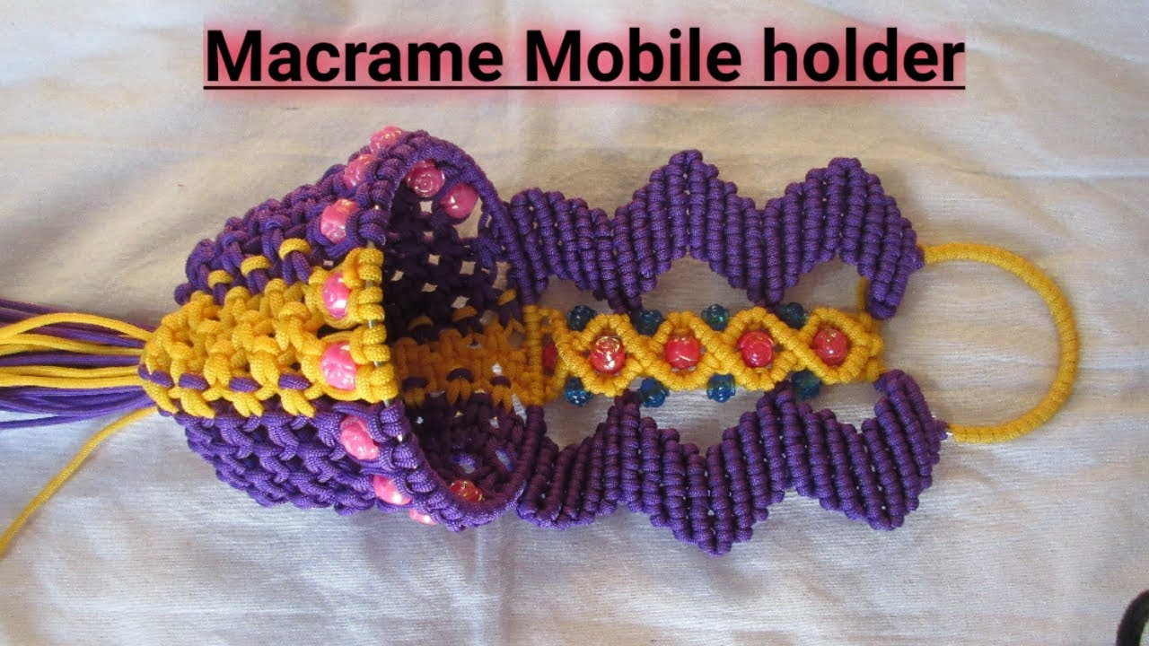 New design Macrame Mobile holder//full tutorial in hindi//hd part