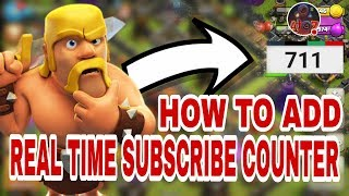 HOW TO ADD LIVE SUBSCRIBE COUNTER IN LIVE STREAM WITH MOBILE
