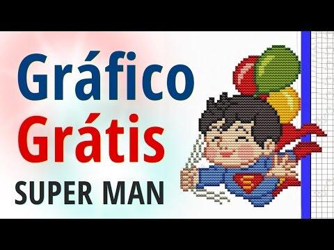 Gráfico infantil Super Man para ponto cruz