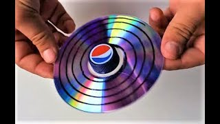 How to make CD Spinning Tops   Toys for Kids