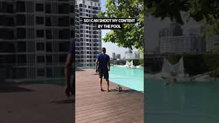 Shooting content with Messi in the pool 😂