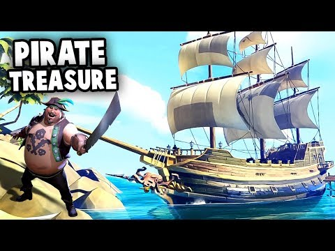 PIRATE Treasure! SEA of THIEVES closed beta gameplay! (Sea of Thieves Multiplayer)