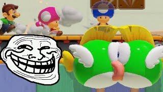 Super Mario Maker 2 Multiplayer Troll Co-OP