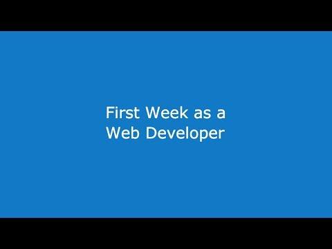 First Week As A Web Developer