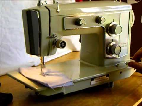 Sears Kenmore Sewing Machine Demonstration YouTube Fascinating How To Thread A Sears Kenmore Sewing Machine Model 2142