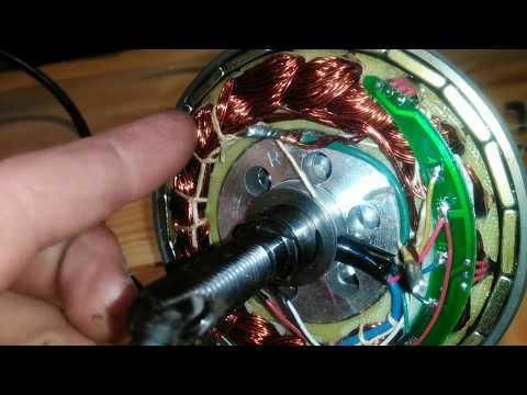 Мотор-колесо  соединение обмоток в треугольник, увеличение скорости