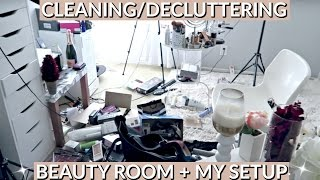 Cleaning/Decluttering Beauty Room + My SETUP & EQUIPMENT