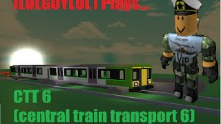 Roblox: CTT6 tutorial, how to set up a train and drive it - Part 2