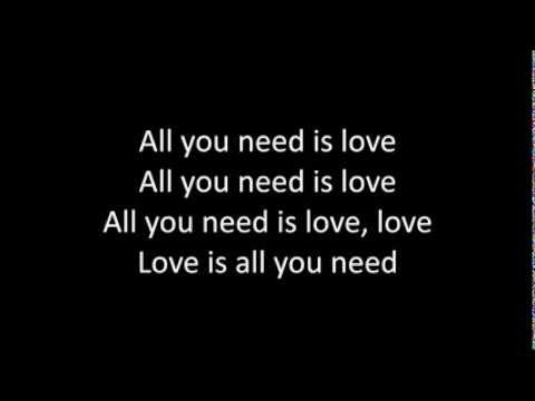 All you need is love lyrics