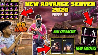 FREEFIRE- NEW ADVANCE SERVER 2020 || NEW CHARACTER,NEW EMOTES,NEW LOBBY,NEW PLACE || FULL REVIEW