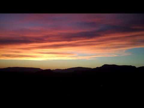 Sunset and sky in Sedona, AZ