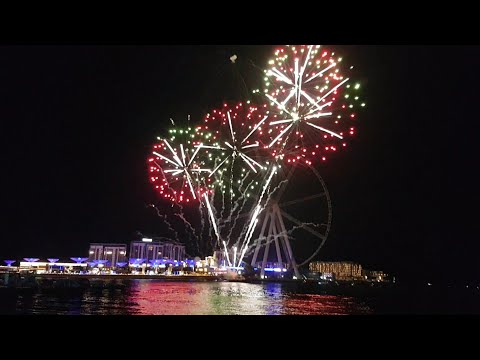 DUBAI Fireworks BLUEWATER ISLAND 28.12.2018 Shopping Festival