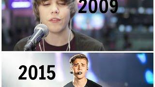 justin bieber s performances 2009 2015 the evolution
