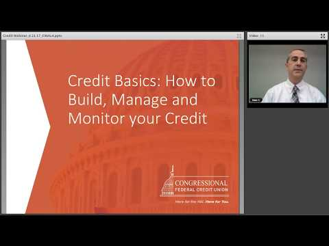 Credit Basics Webinar 6.21.17