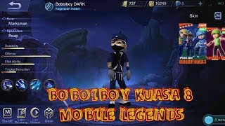 BOBOIBOY DARK boboiboy galaxy kegelapan jadi hero edit mobile legends