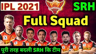 IPL 2021- SRH full Squad for ipl 2021: Sunrisers Hyderabad squad for ipl 2021