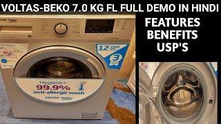 Voltas-Beko FL Washing Machine 7 0 Kg full Demo Benefits Featurer 39 s in Hindi