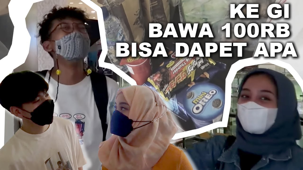 CHALLENGE PASANGAN! BELANJA+MAKAN DENGAN BUDGET 100K