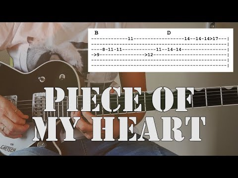 Piece Of My Heart   Guitar Tutorial   Tab & chords included!