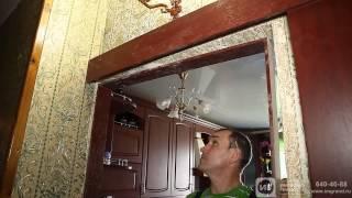 Установка раздвижной двери компанией Империя Гранд