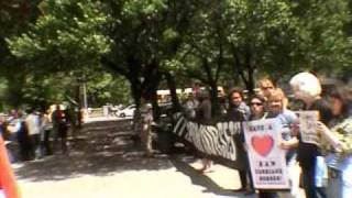 Animal Rights Activists @ Central Park, Mothers Day. Protesting Horse & Carriages Again! peta, hsus,