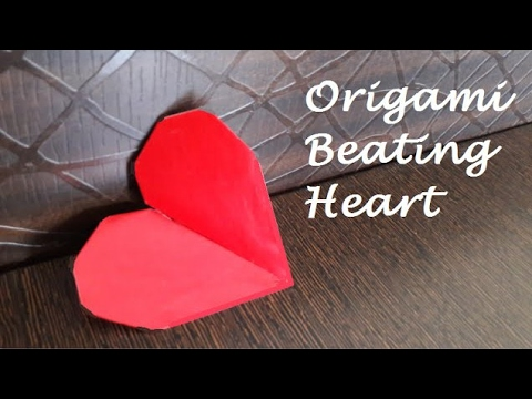 Diy Valentine Gift Origami Beating Heart Youtube