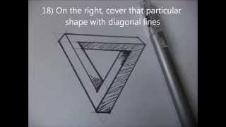 how to draw an illusion triangle