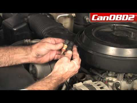 Changing Coolant Temperature Sensor - YouTube