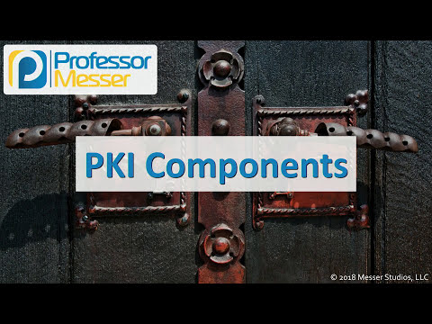 PKI Components - CompTIA Security+ SY0-501 - 6.4