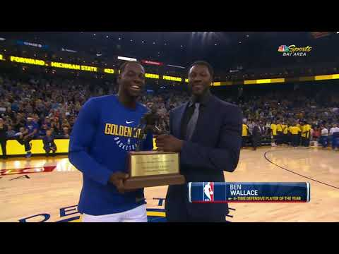 Ben Wallace presents Draymond Green with Defensive Player of the Year award | ESPN