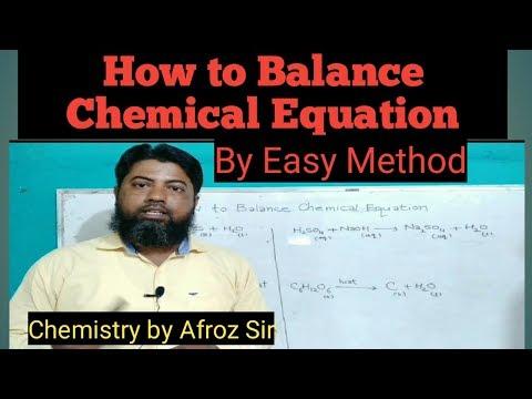 How To Balance Chemical Equation   Tricks To Balance Chemical Reaction   Balancing Chemical Equation