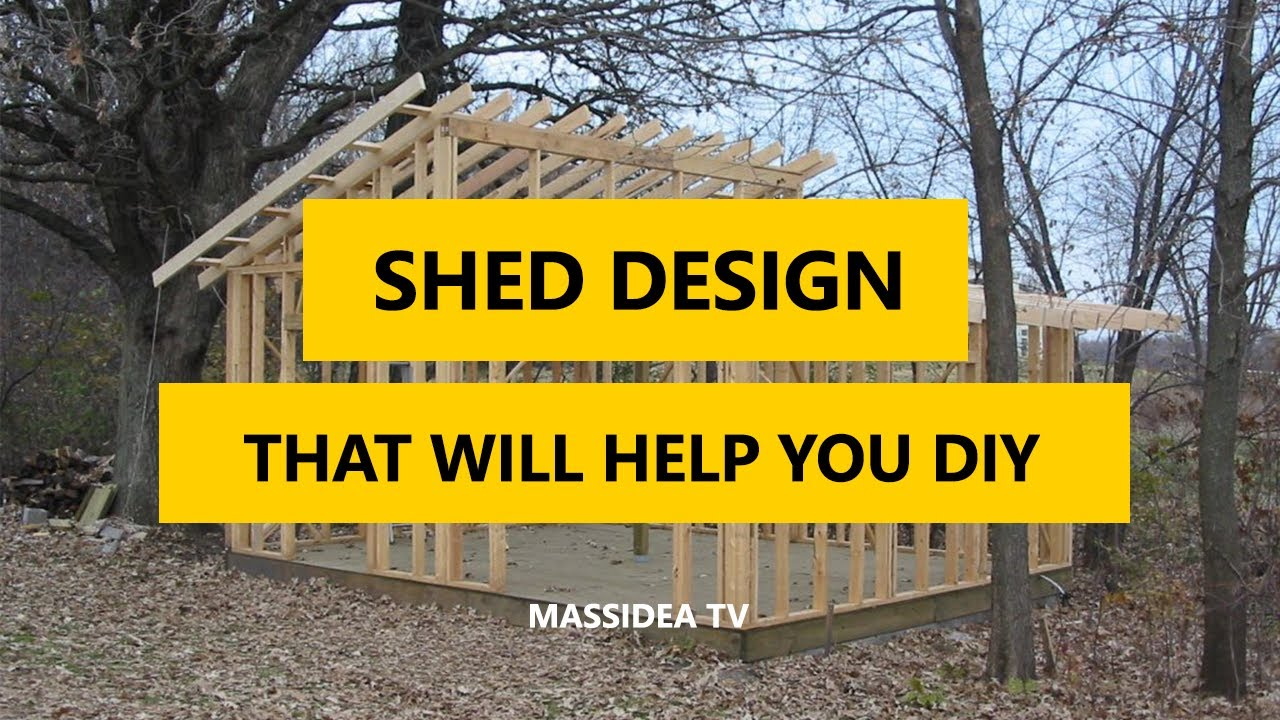 40+ Best Shed Design Ideas That Will Help You DIY a Shed 2017 - YouTube