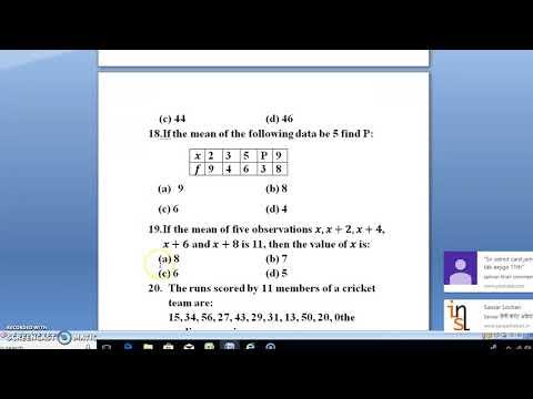 STATISTICS & PROBABILITY/ MATHEMATICS/XI AMU/BHU/JMI TEST