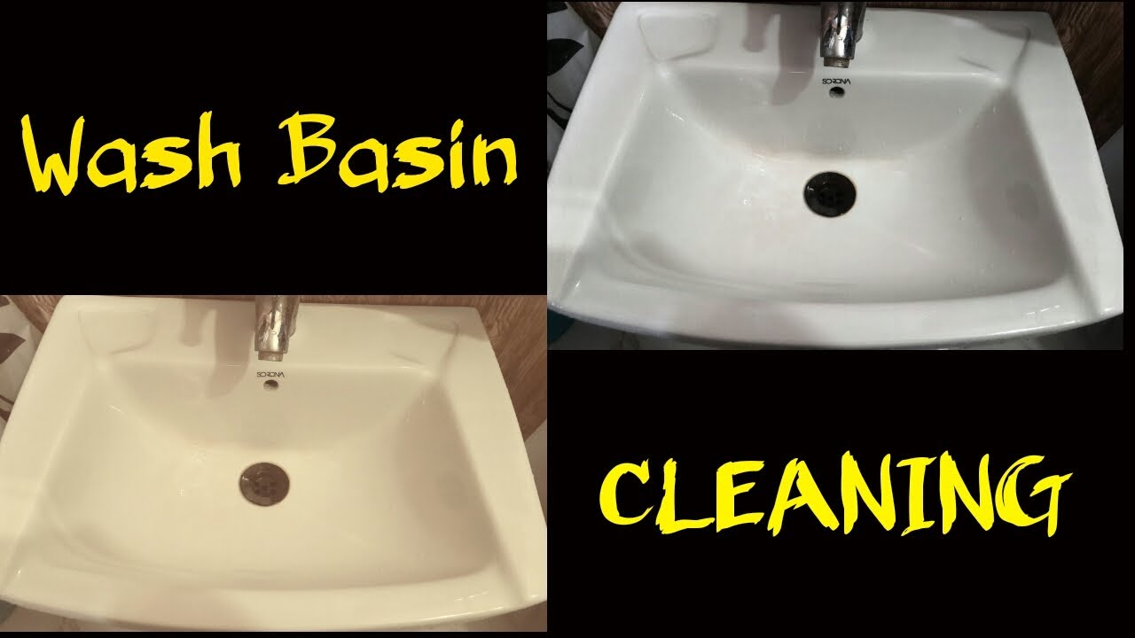 How To Clean Bathroom Sink Wash Basin Ceramic Porcelain