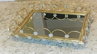 DIY DECO - Plateau d'accessoires / Parfums / Decor --- DIY Perfume Tray from Dollar tree