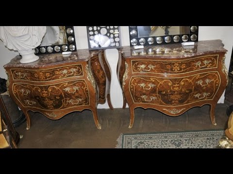 Pair Bombe Commodes Louis XV Chests Drawers Chest