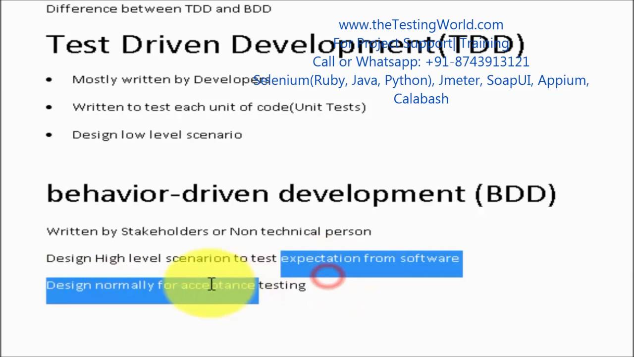 Difference between tdd and bdd youtube baditri Images