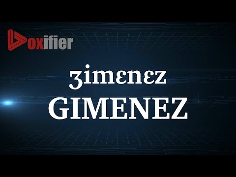 How to Pronunce Gimenez in French - Voxifier.com