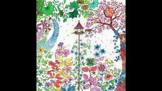 비밀의정원 숲속 가로등 색칠하기 (secret gard…