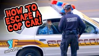 How To Get Out Of A Cop Car! [Prank!]